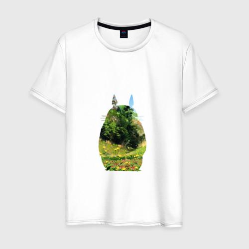 Мужская футболка хлопок Тоторо в виде леса
