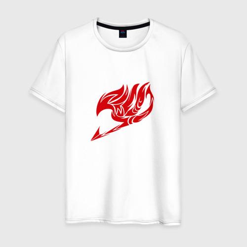 Мужская футболка хлопок Helmet Fairy tail just red