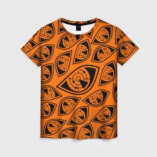 Женская футболка 3D ГЛАЗА ПУЛЬСА