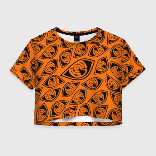 Женская футболка Crop-top 3D ГЛАЗА ПУЛЬСА