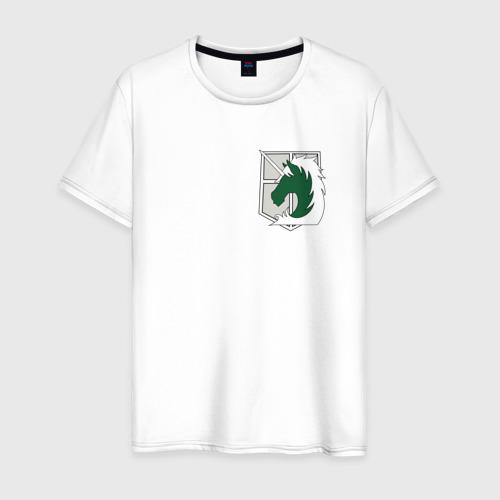 Мужская футболка хлопок Атака титанов -  военная полиция
