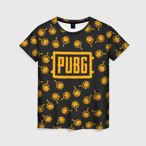 Женская футболка 3D PUBG CHIKEN | ПАБГ КУРИЦА