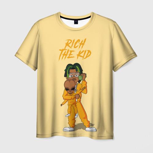 Мужская футболка 3D Rich The Kid