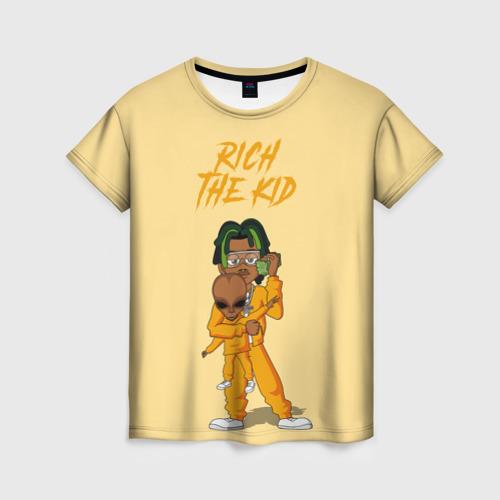Женская футболка 3D Rich The Kid