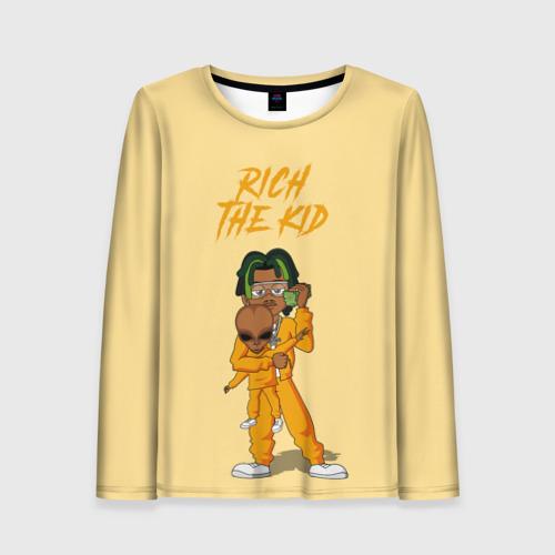 Женский лонгслив 3D Rich The Kid