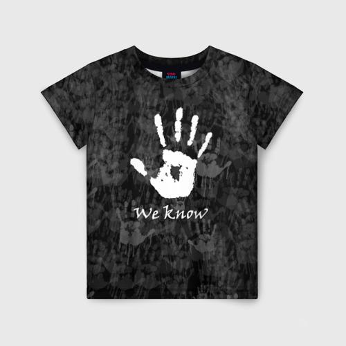 Детская футболка 3D WE KNOW