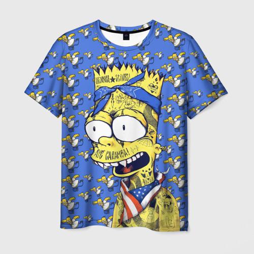 Мужская футболка 3D Simpson