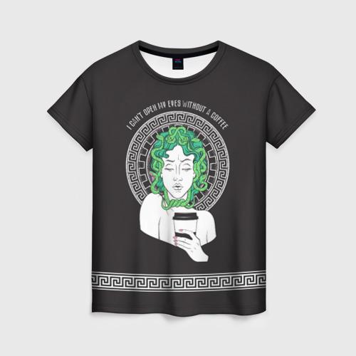 Женская футболка 3D Gorgon