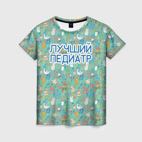 Женская футболка 3D детский врач