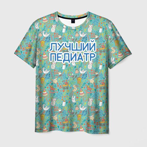 Мужская футболка 3D детский врач
