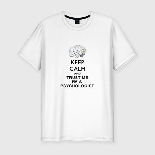 Мужская футболка хлопок Slim Keep calm