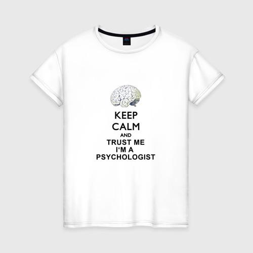 Женская футболка хлопок Keep calm