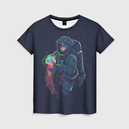 Женская футболка 3D Космическая Медуза