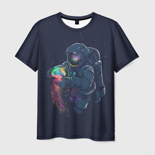 Мужская футболка 3D Космическая Медуза