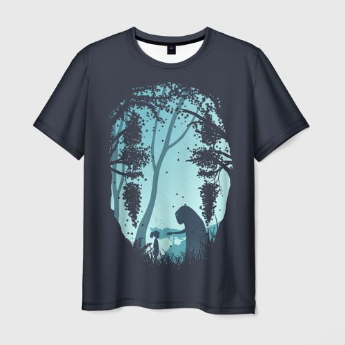 Мужская футболка 3D Силует лица Каонаси