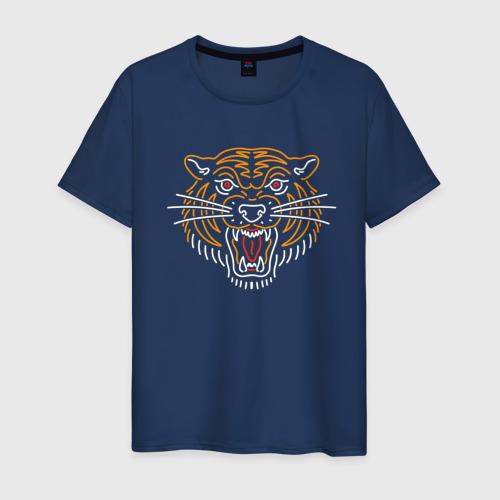 Мужская футболка хлопок Тигр