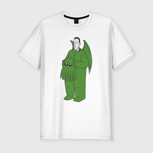 Мужская футболка хлопок Slim Лавкрафт