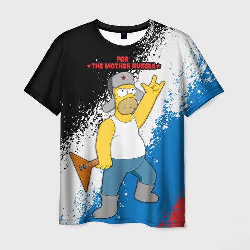 Мужская футболка 3D Russian Homer