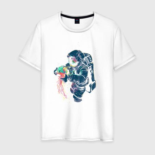 Мужская футболка хлопок Космическая медуза