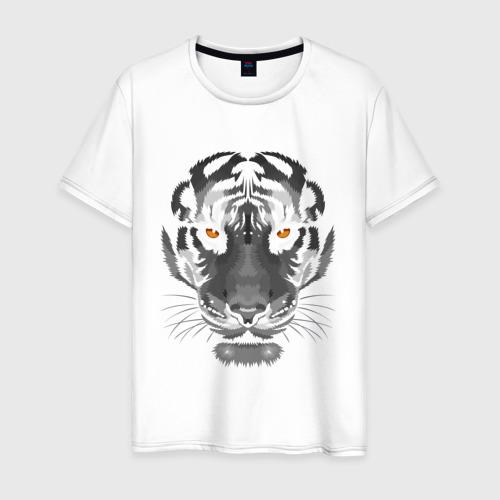 Мужская футболка хлопок Белый тигр