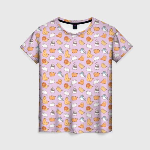 Женская футболка 3D Pusheen zoo