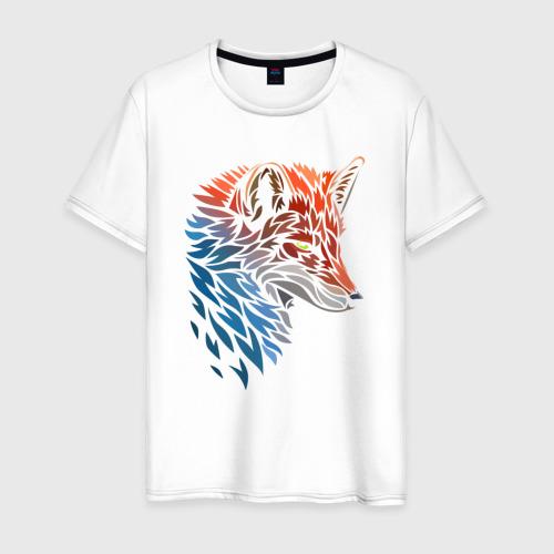 Мужская футболка хлопок Пестрая лисица