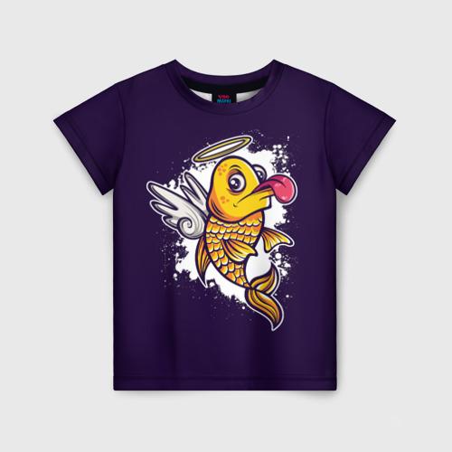 Детская футболка 3D Золотая Рыбка