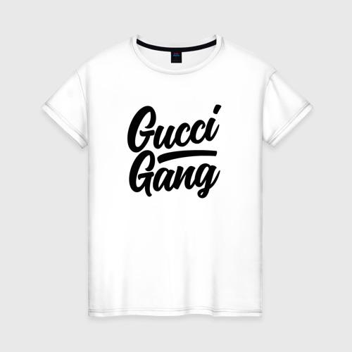 Женская футболка хлопок GUCCI GANG