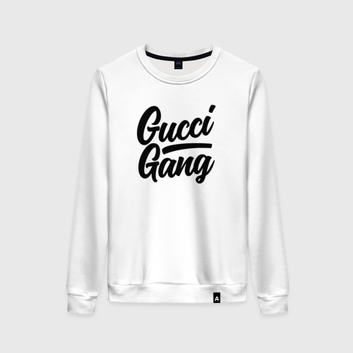 Женский свитшот хлопок GUCCI GANG