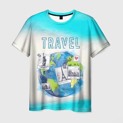 Мужская футболка 3D Путешествуй!