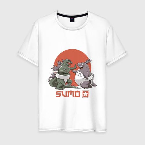 Мужская футболка хлопок Годзилла и Тоторо