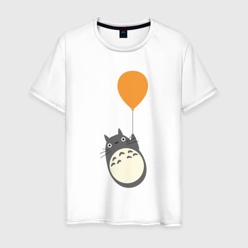 Мужская футболка хлопок Тоторо на шарике