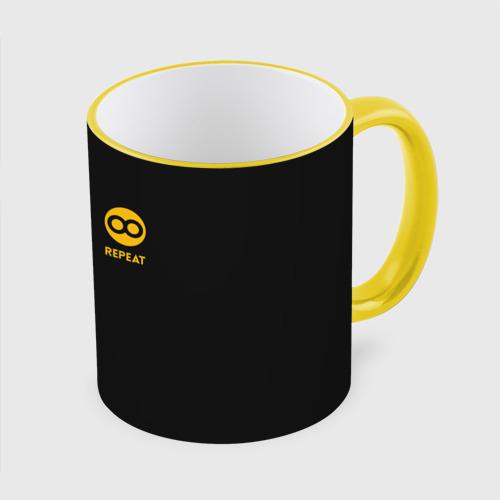 Кружка с полной запечаткой Code Coffee Repeat
