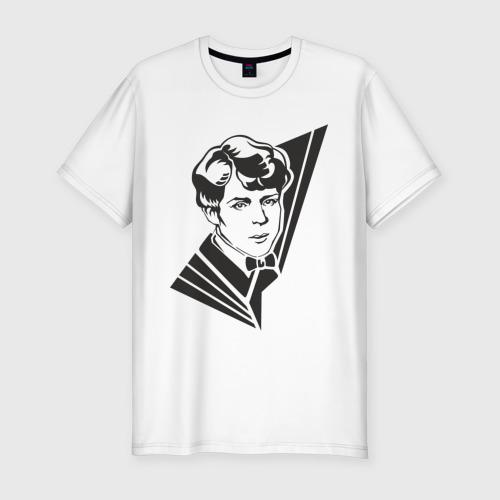 Мужская футболка хлопок Slim Есенин
