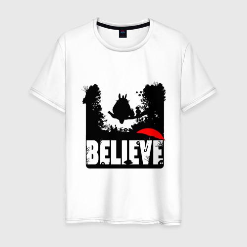Мужская футболка хлопок Believe in Totoro