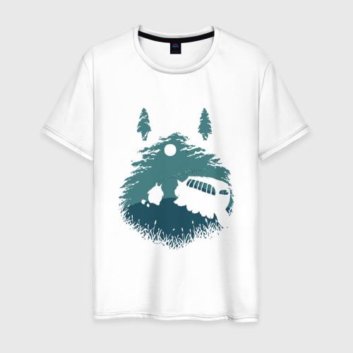 Мужская футболка хлопок Тоторо и Котобус