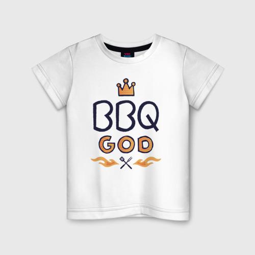 Детская футболка хлопок Бог Барбекю