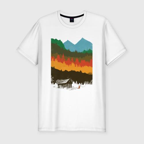 Мужская футболка хлопок Slim Дикая природа