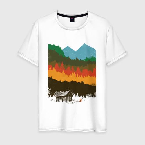 Мужская футболка хлопок Дикая природа