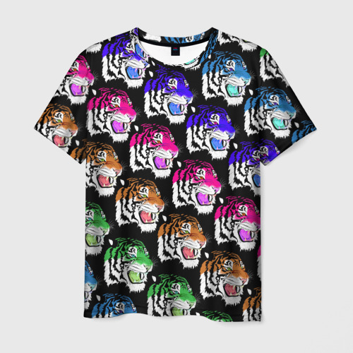 Мужская футболка 3D Gucci тигр