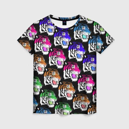 Женская футболка 3D Gucci тигр