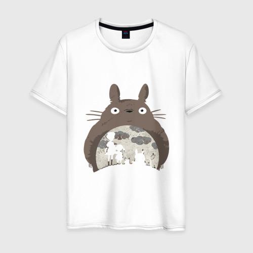 Мужская футболка хлопок Тоторо и тени
