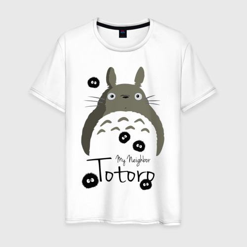 Мужская футболка хлопок Тоторо и Чернушки