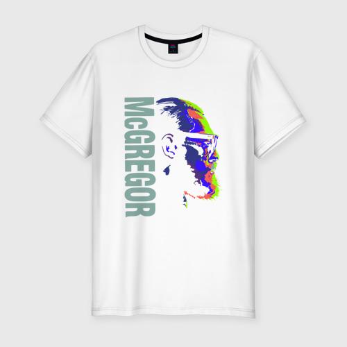 Мужская футболка хлопок Slim Конор Макгрегор