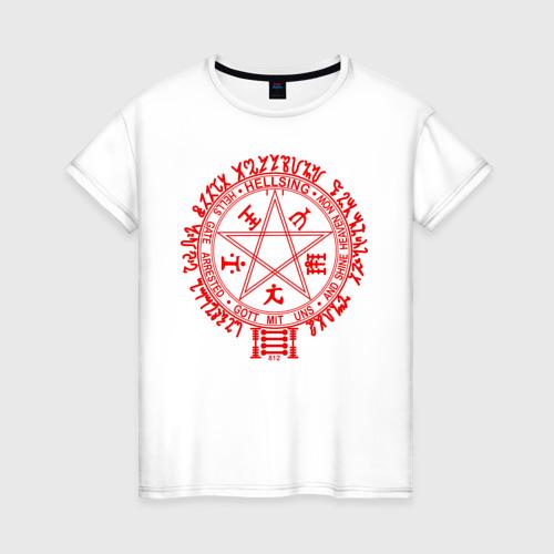 Женская футболка хлопок Alucard Pentagram