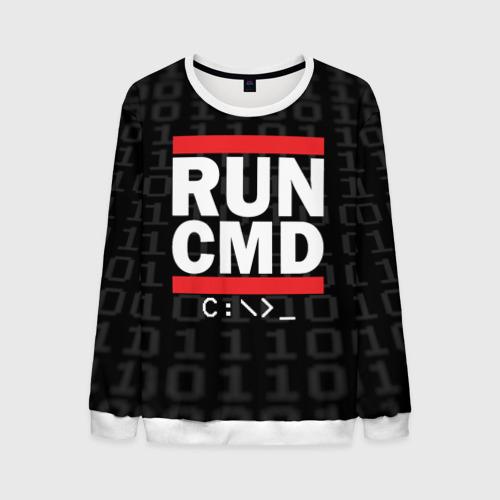Мужской свитшот 3D RUN CMD