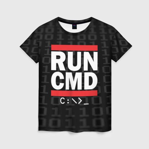 Женская футболка 3D RUN CMD