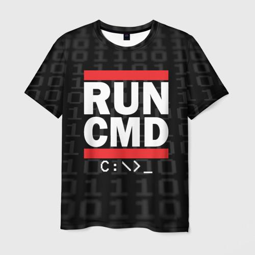 Мужская футболка 3D RUN CMD