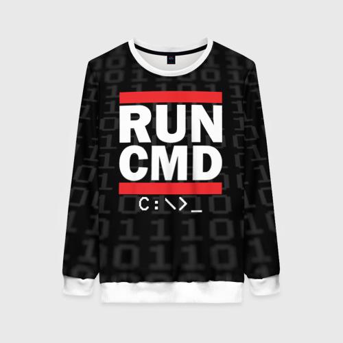 Женский свитшот 3D RUN CMD
