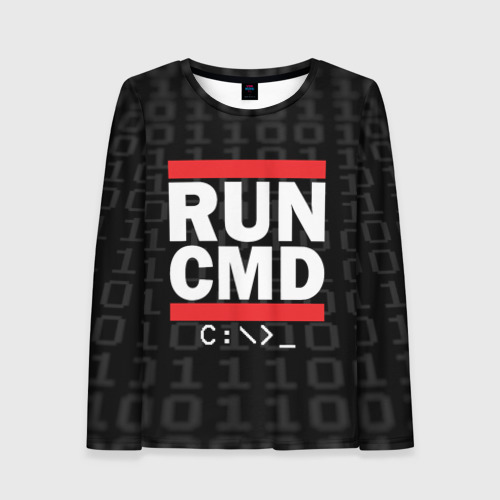 Женский лонгслив 3D RUN CMD